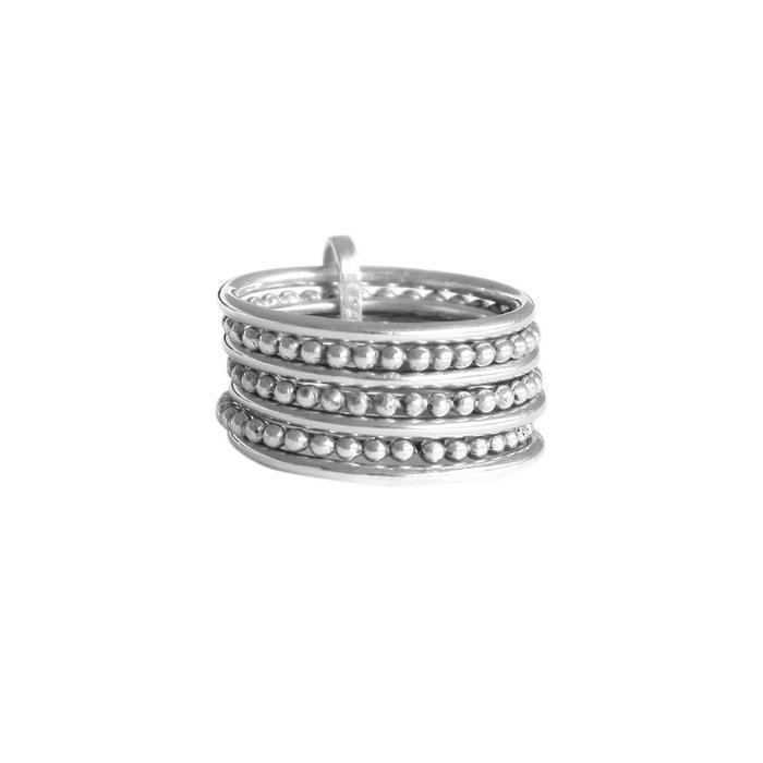La Sortie De Nombreux Types De Recommander Rabais Bague semainier en argent ligne et perles argent Agnes De Verneuil | La Redoute nND5W75vGW