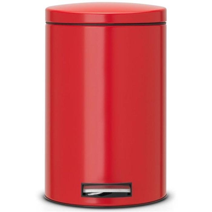 Poubelle p dale brabantia motioncontrol 12 l rouge - Poubelle cuisine integrable ...