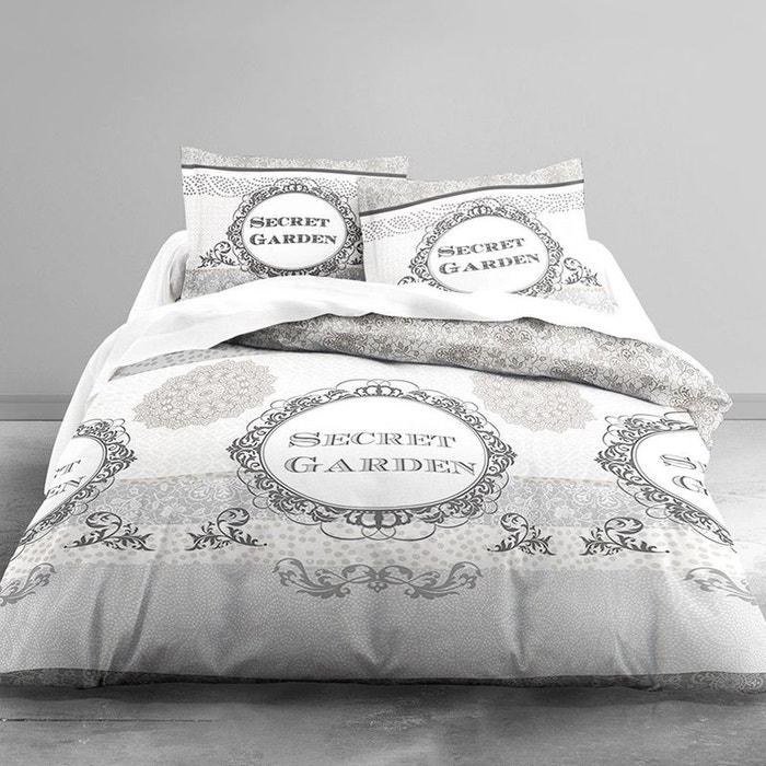 parure de lit secret garden 220 x 240 cm couleur unique lefranc bourgeois la redoute. Black Bedroom Furniture Sets. Home Design Ideas
