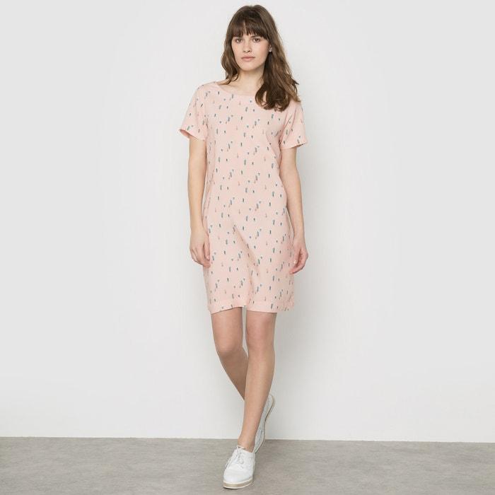 printed dress print pink background karl marc john la. Black Bedroom Furniture Sets. Home Design Ideas
