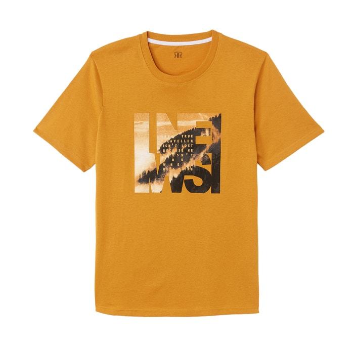 Camiseta de cuello redondo y manga corta  La Redoute Collections image 0