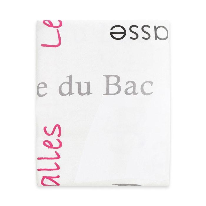 drap plat french en coton rose rose cotonflor la redoute. Black Bedroom Furniture Sets. Home Design Ideas