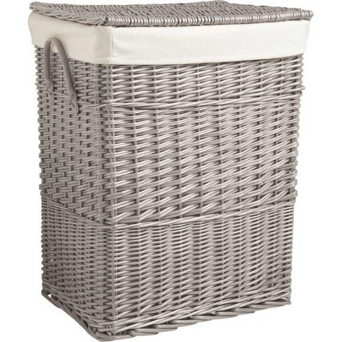 corbeille linge en osier gris aubry gaspard la redoute. Black Bedroom Furniture Sets. Home Design Ideas