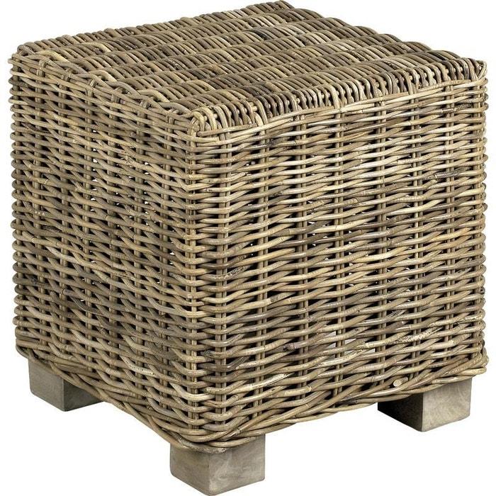 pouf carr en poelet gris gris aubry gaspard la redoute. Black Bedroom Furniture Sets. Home Design Ideas