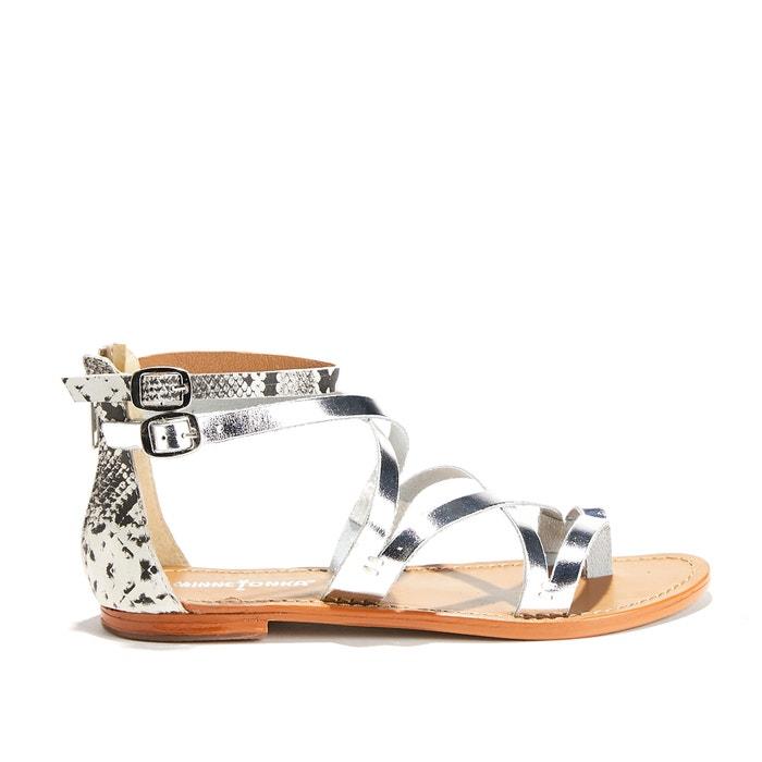 Atrina Flat Sandals with Back Zip  MINNETONKA image 0