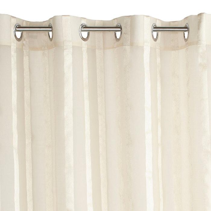 voilage rayures chevrons oeillets aberdal la redoute interieurs la redoute. Black Bedroom Furniture Sets. Home Design Ideas