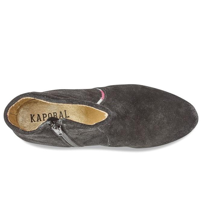 Boots cuir Vuber, Noir