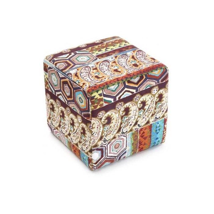 Tabouret cube patchwork couleur unique declikdeco la redoute - Fauteuil patchwork la redoute ...