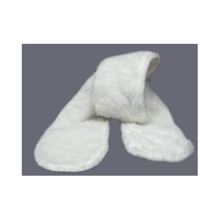 Echarpe enfant blanche, fausse fourrure blanc Poussin Bleu   La Redoute 4fe57f0b177