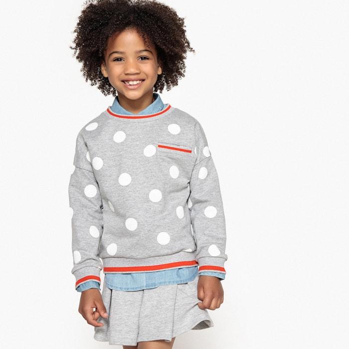 Polka Dot Sweatshirt, 3-12 Years  La Redoute Collections image 0