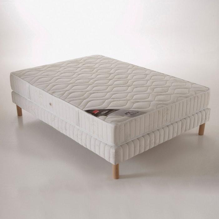 matelas mousse et ressorts confort ferme haut 24 cm epeda blanc la redoute. Black Bedroom Furniture Sets. Home Design Ideas
