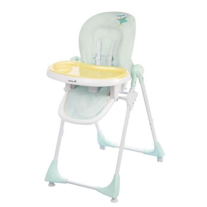 chaise haute 233 volutive safety 1st kiwi jaune bleu couleur unique safety la redoute