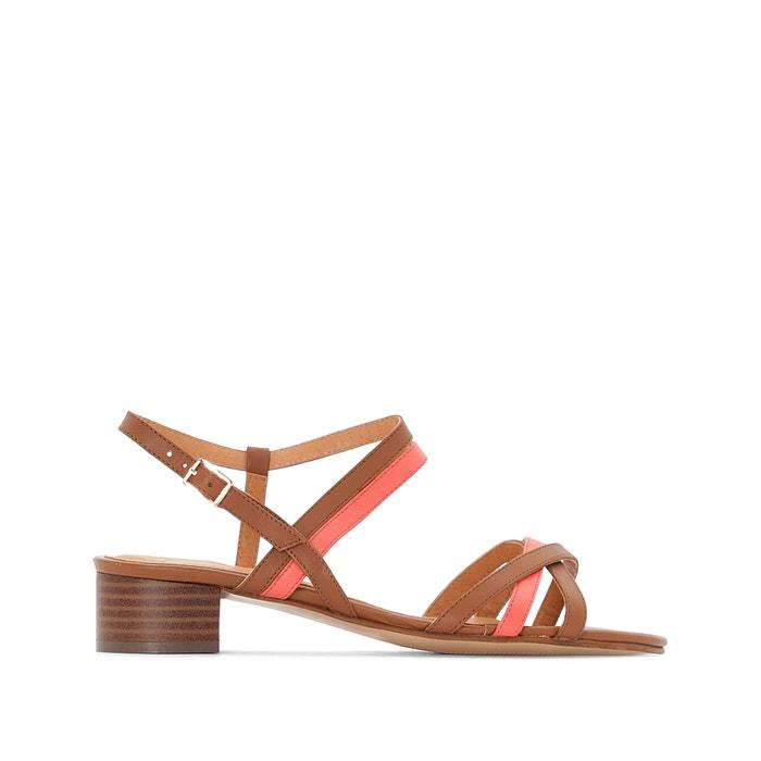 Sandali pelle bicolore con tacco medio  ANNE WEYBURN image 0