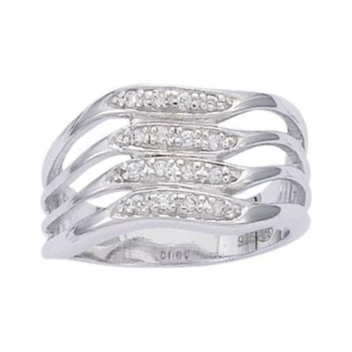 Bague anneau 4 vagues oxyde de zirconium argent 925 couleur unique So Chic Bijoux | La Redoute Acheter Pas Cher Finishline nicekicks eA2YKn
