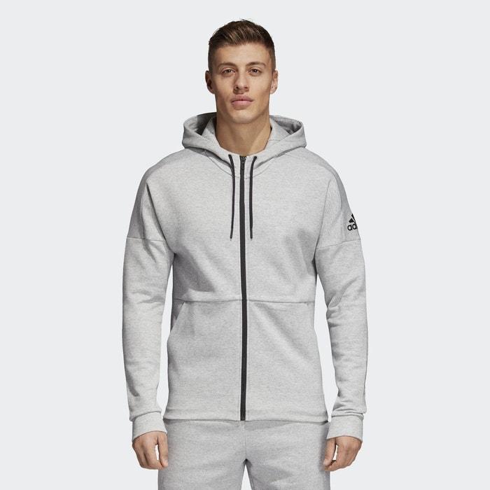 108242aaaa05 Veste à capuche id stadium gris Adidas Performance