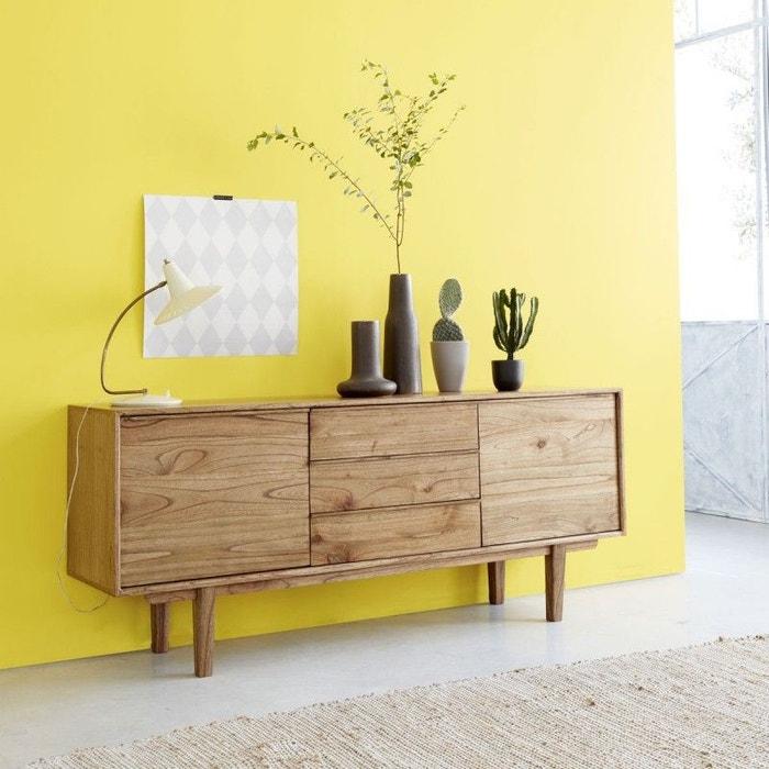 Buffet en bois de mindy 180 fifties couleur unique bois - Hauteur miroir au dessus buffet ...