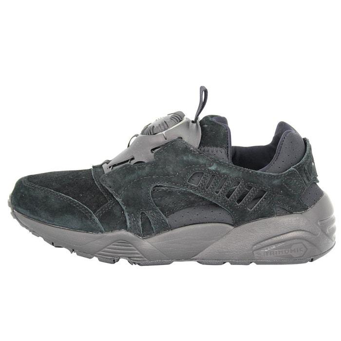 Puma disc blaze mono chaussures mode sneakers unisex cuir suede noir trinomic noir Puma