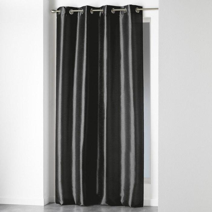 rideau shantung shana noir 140x240 douceur d 39 int rieur noir douceur d 39 int rieur la redoute. Black Bedroom Furniture Sets. Home Design Ideas
