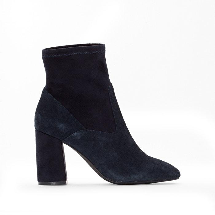 boots cuir talon haut r essentiel la redoute. Black Bedroom Furniture Sets. Home Design Ideas