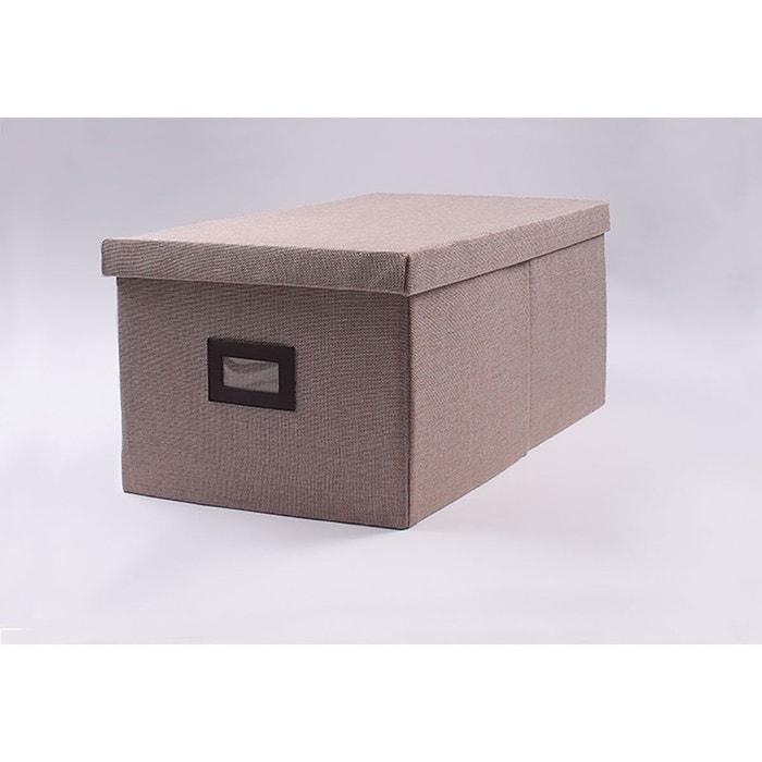 Boîte de rangement polyester - lot de 3 beige lin Casame   La Redoute 3a88b71506a2