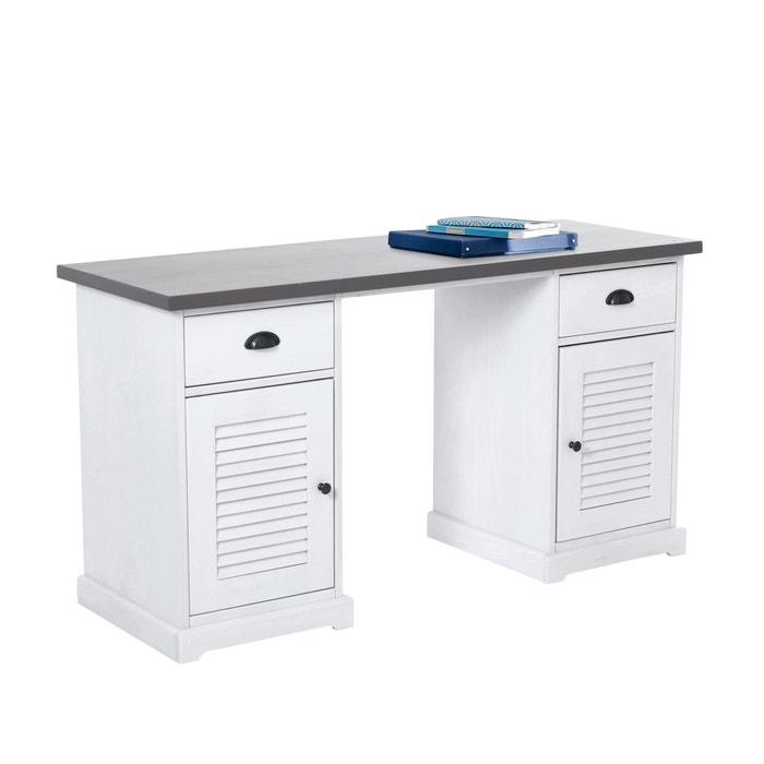 Bureau double caisson kath teck la redoute interieurs la redoute - La redoute meuble bureau ...