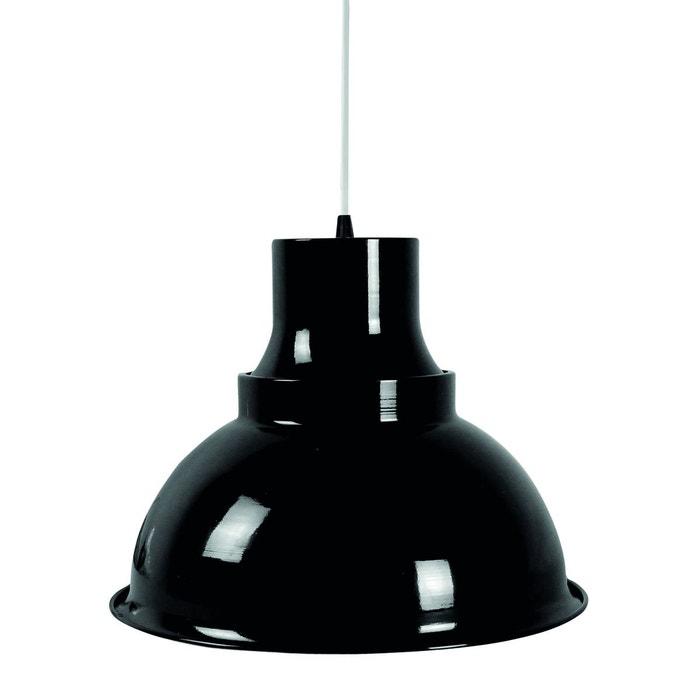 Suspension industrielle art noire en métal noir Keria   La Redoute