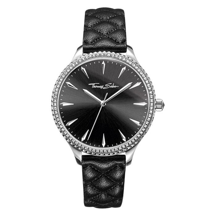 bedb9758c45d7 Montre pour femme rebel at heart women montre pour femme acier inoxydable;  cuir noir, argenté, blanc Thomas Sabo | La Redoute