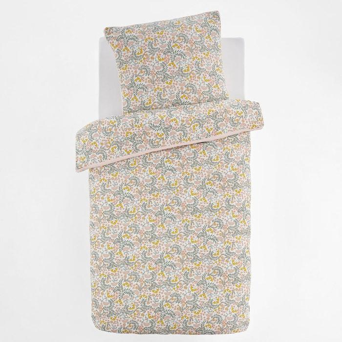 Housse De Couette Enfant En Coton Lavé, Majari Imprimé Fleurs La Redoute  Interieurs   La Redoute