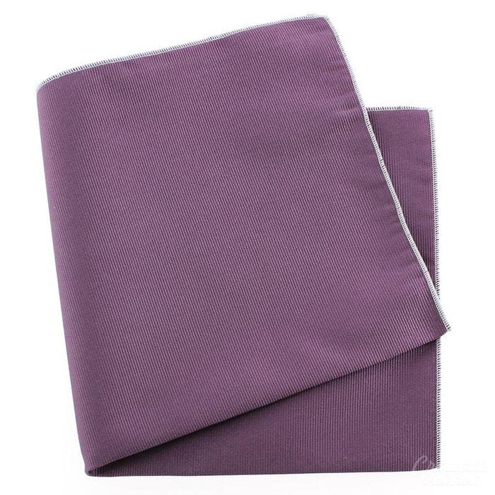 Pochette soie, parma, ourlet blanc violet Tony Et Paul | La Redoute
