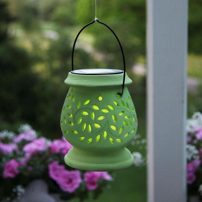 clay lantern lanterne solaire d 39 ext rieur led vert h14 5cm luminaire d 39 ext rieur best season. Black Bedroom Furniture Sets. Home Design Ideas