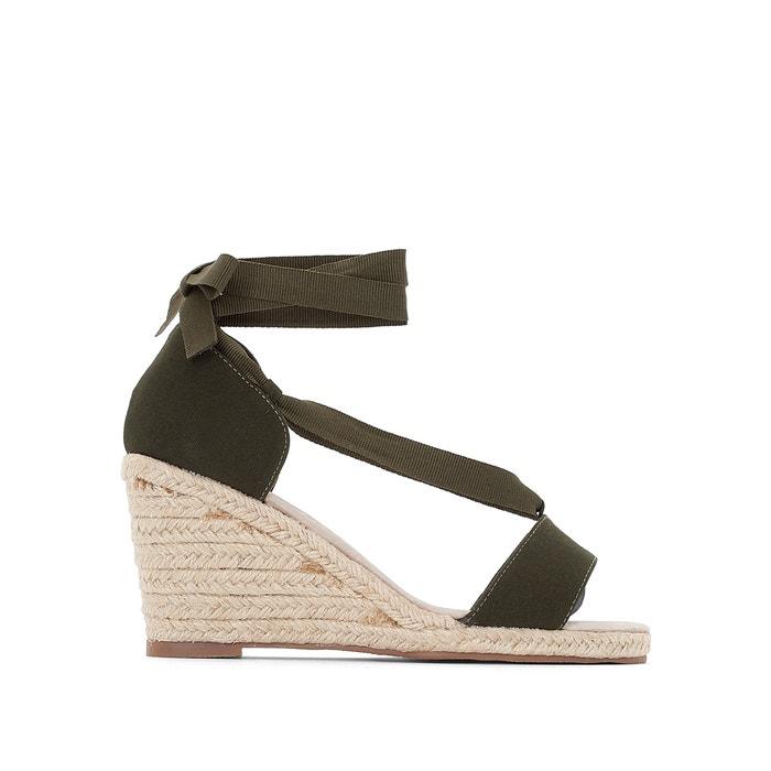 Sandali tacco con zeppa da annodare alle caviglie  ANNE WEYBURN image 0