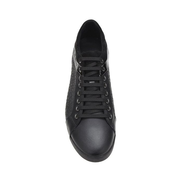 ... Sneaker georg logo en relief noir Guess