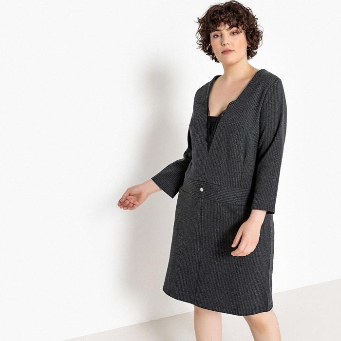 Платье прямое в узкую полоску с длинными рукавами  CASTALUNA image 0