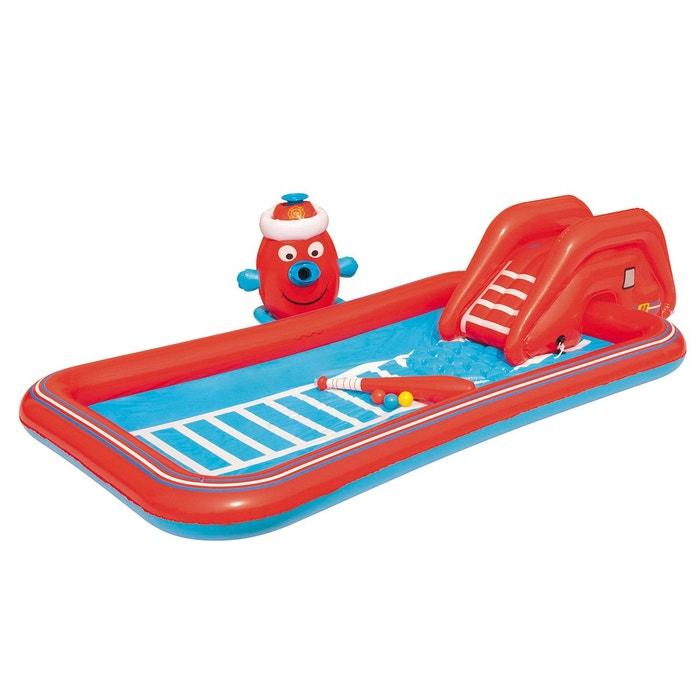 aire de jeux gonflable voiture de pompier rouge cemonjardin la redoute. Black Bedroom Furniture Sets. Home Design Ideas
