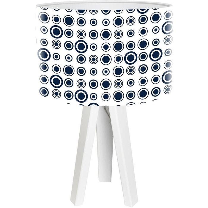 lampe de chevet stamps bleu bps koncept la redoute. Black Bedroom Furniture Sets. Home Design Ideas