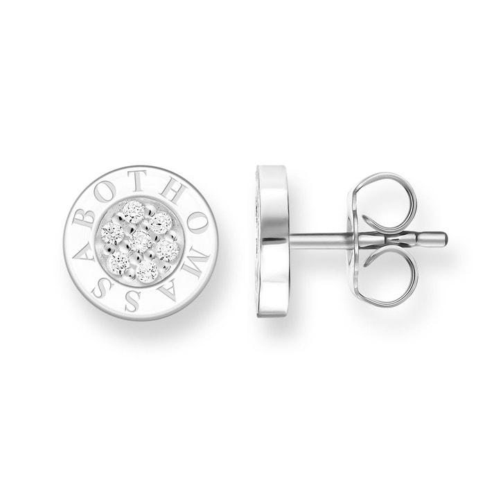 Clous d'oreilles classic pavé blanc argenté/blanc Thomas Sabo | La Redoute 100% En Ligne Vente Originale 0HE8gphB7