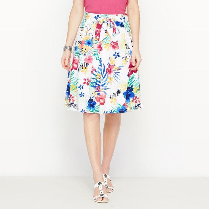 Image Softly Draping Printed Skirt ANNE WEYBURN