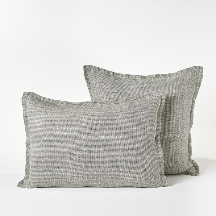 taie d oreiller lin lav chevrons ebinta am pm la redoute. Black Bedroom Furniture Sets. Home Design Ideas