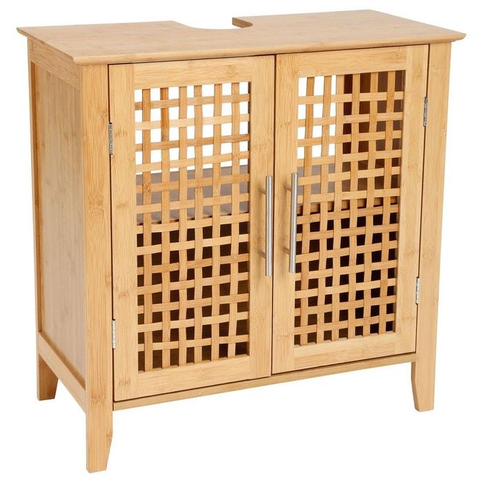 meuble dessous de lavabo double porte gamme bambou marron instant d o la redoute. Black Bedroom Furniture Sets. Home Design Ideas