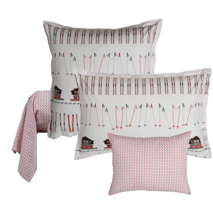 taie d 39 oreiller slalom blanc olivier desforges la redoute. Black Bedroom Furniture Sets. Home Design Ideas