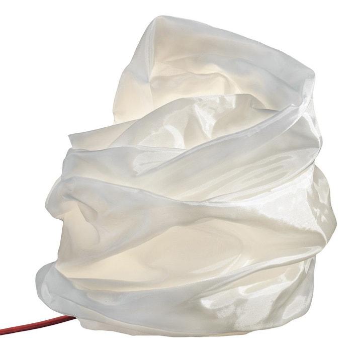 lampe poser modulable fibre de verre blanc iside blanc tung design la redoute. Black Bedroom Furniture Sets. Home Design Ideas