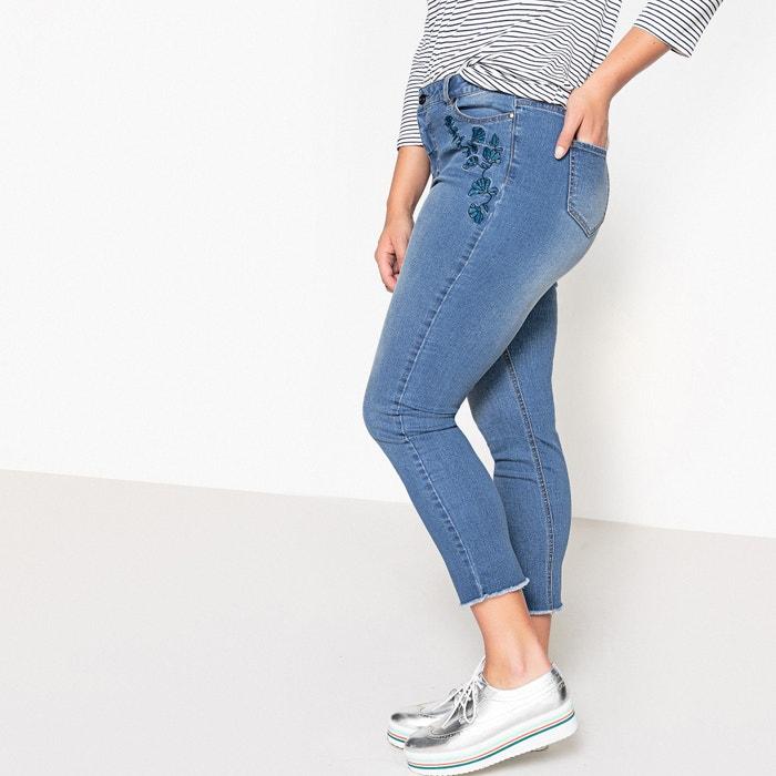 """Loose Fit Frayed Hem Jeans, Length 27""""  CASTALUNA image 0"""