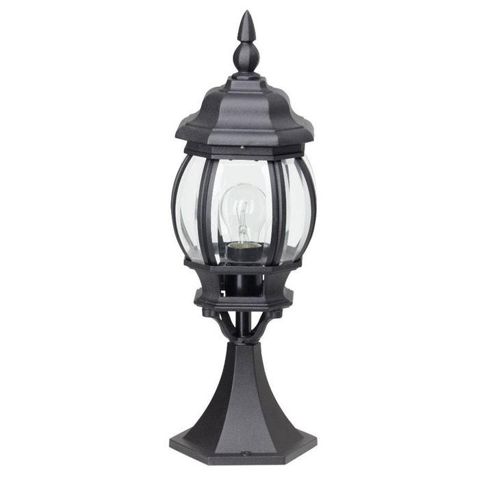 Istria borne d 39 ext rieur noir h50cm luminaire d for Borne luminaire exterieur