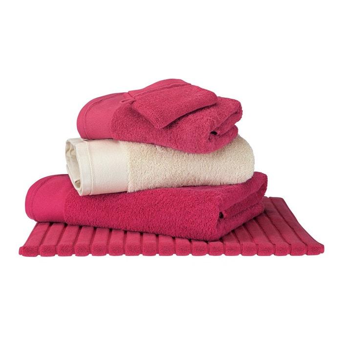 serviette d 39 invit rouge basque coton peign 600 g m unie rouge basque blanc cerise la. Black Bedroom Furniture Sets. Home Design Ideas