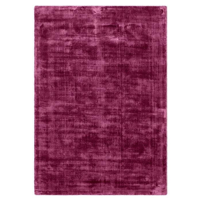tapis uni effet vieilli 100 viscose izri prune la redoute interieurs en solde la redoute. Black Bedroom Furniture Sets. Home Design Ideas