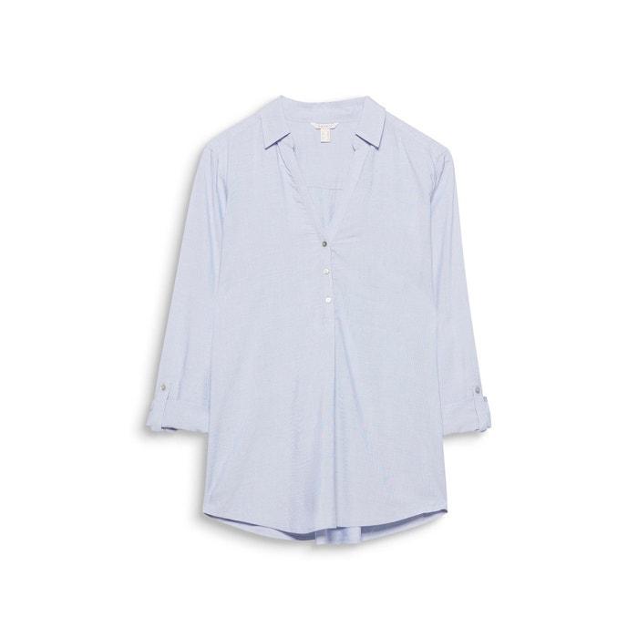 recta lisa y con cuello polo Blusa ESPRIT Hq65wgH