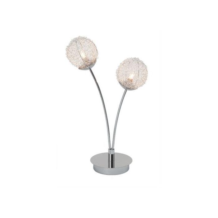 lampe a poser 2 lumieres coloris chrome