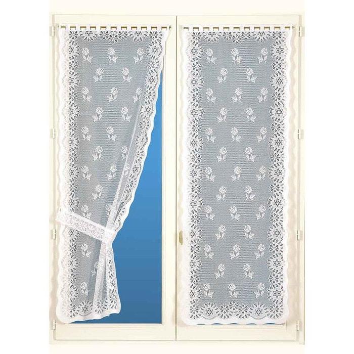 Paire de rideaux bonne femme avec embrasses blanc home maison la redoute - La redoute rideaux bonne femme ...