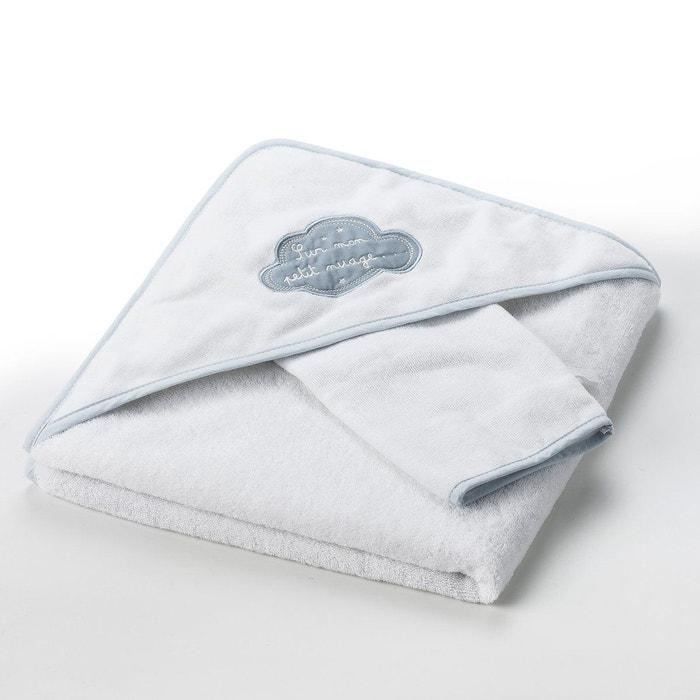 """Cape de bain + gant """"Dans les nuages"""" 400 g/m²"""