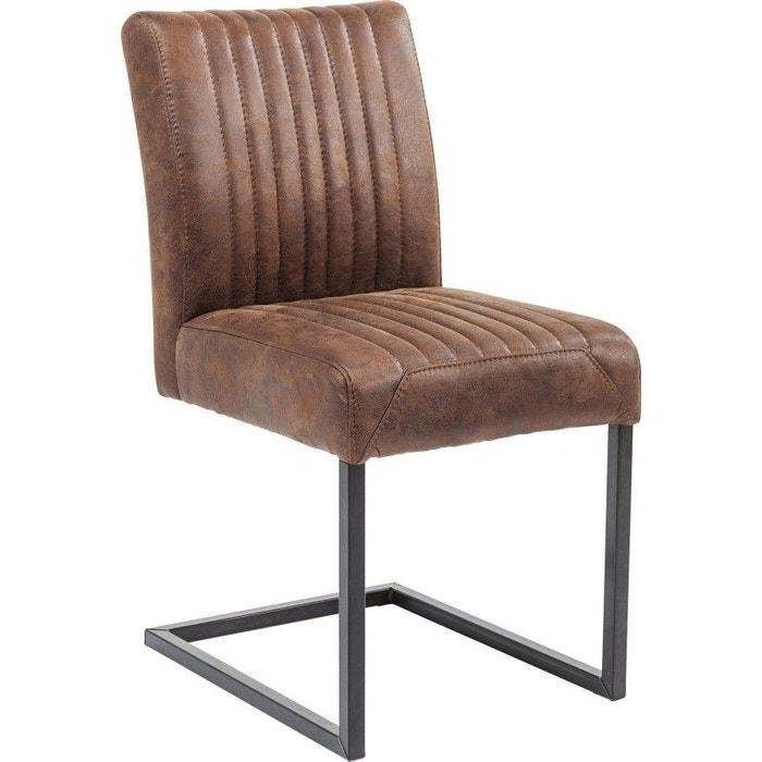 Chaise cantilever liberty marron kare design marron kare design la redoute for Chaise kare design
